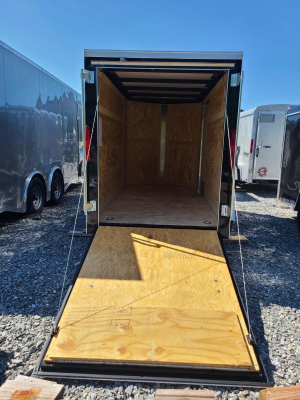 5 x 10 Homesteader Intrepid V Nose Enclosed Cargo Trailer 3k  **Black w/ Ramp Door Pkg.