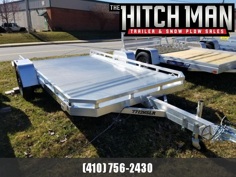 6.5' x 12' ALUMA 7712HSLR 25th Anniversary Edition Aluminum Utility Trailer with Slide Out Ramp 3K