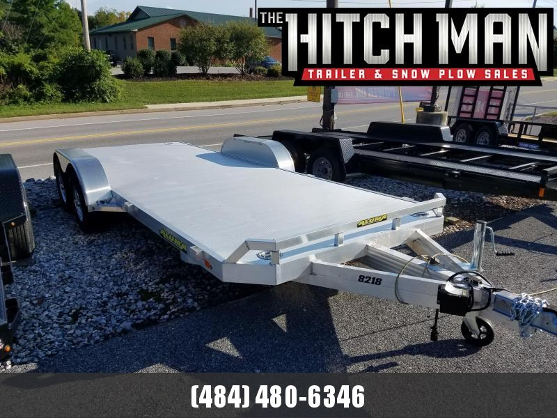 6'10 x 18' ALUMA 8218 Aluminum Car Trailer 7k