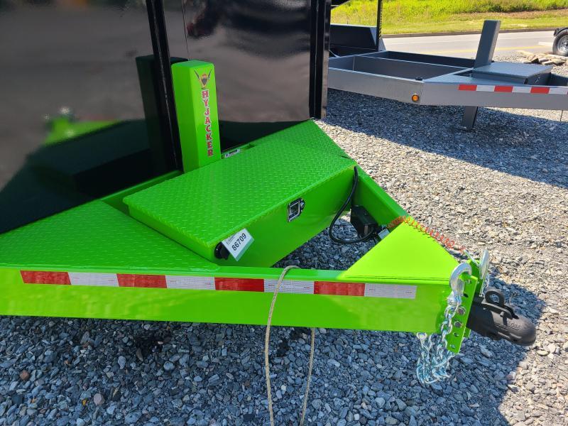7 X 16 BWISE ULTIMATE Low Pro Dump Trailer, 15.4K  **Black/Lime Green