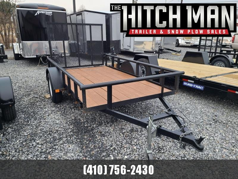 Used 2017 5 x 10 Carry-On Tube Rail 3k Utility Trailer