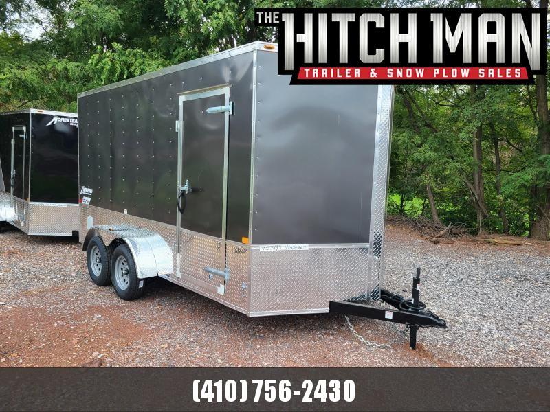 """7 x 14 Homesteader Intrepid OHV V Nose Cargo Trailer 7K **Charcoal w/ 12"""" Extra Height (OHV Pkg)"""