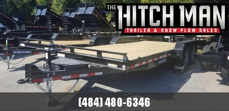 7 x 18 (16+2) Sure-Trac Equipment Trailer 10k