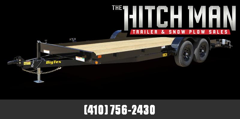 7' x 20' Big Tex Wood Deck Car Trailer 10K