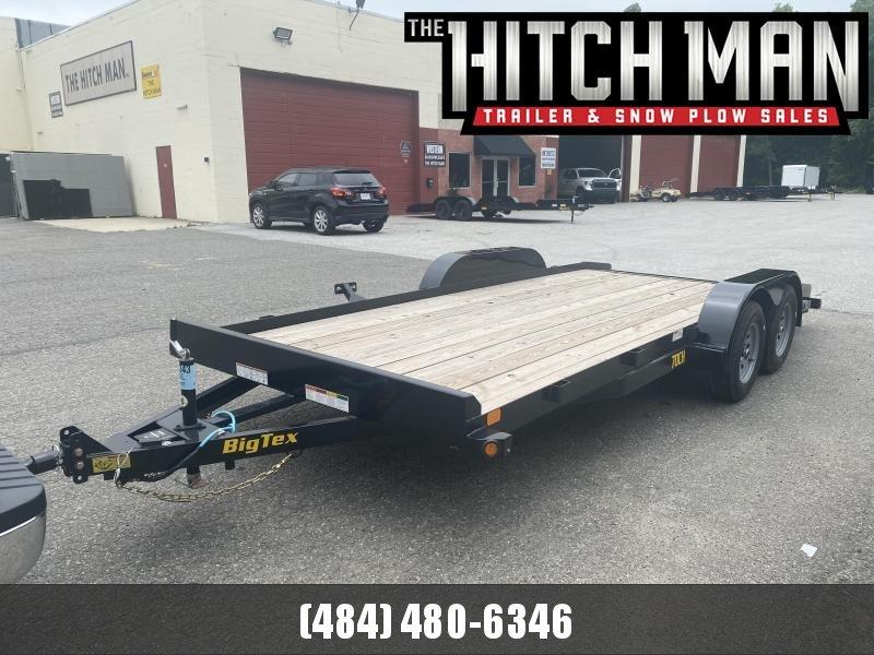 7 x 18 Big Tex Wood Deck Car Hauler 7k