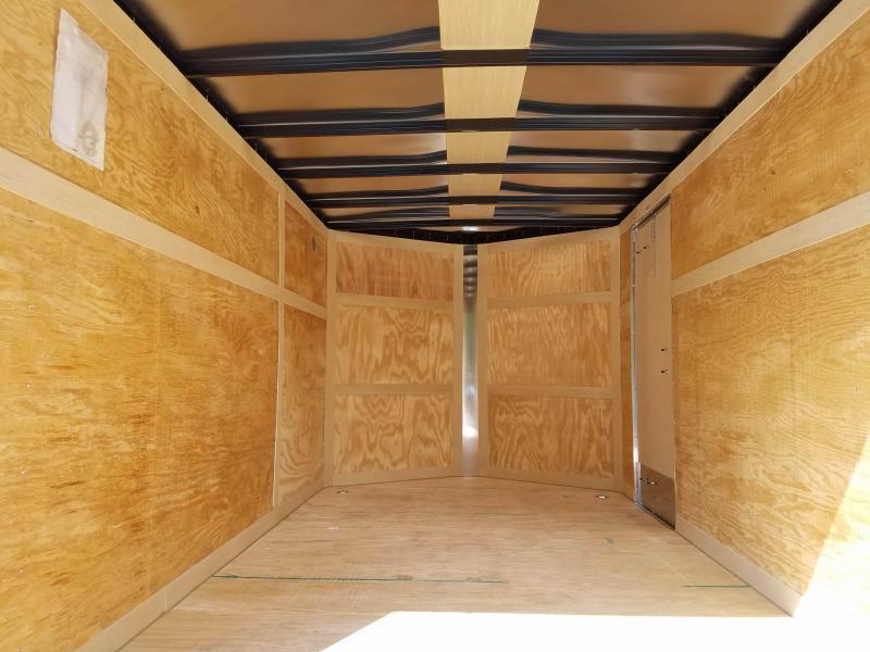 7 x 12 Homesteader Intrepid V-Nose Cargo Trailer 3k *SILVER
