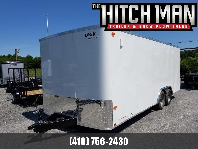 8.5 x 20 Look ST Auto Enclosed Car Trailer 7k