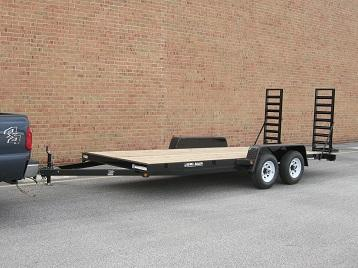 7 X 18 Bri-Mar Low Pro Equipment Trailer 10K