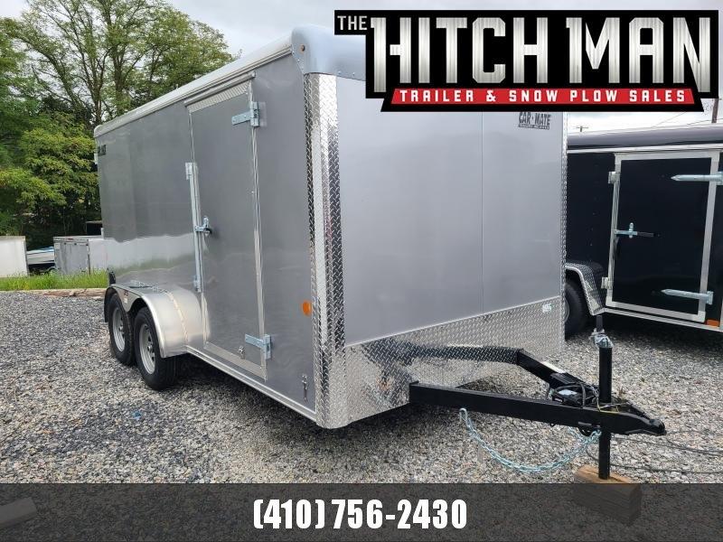 7 x 14 Car-Mate Custom Cargo Trailer 7k  ***Silver w/Ramp Door
