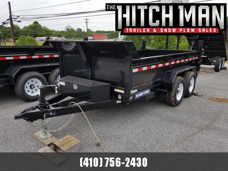 6 x 12 Sure Trac SD Low Profile Dump Trailer 10k