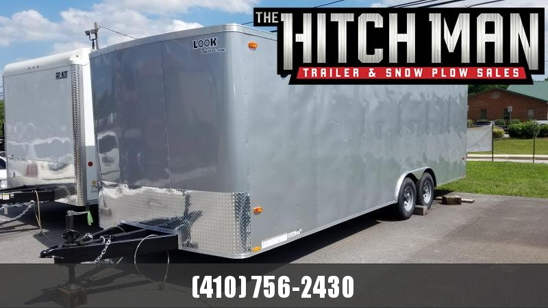 8.5 x 24 Look ST Auto Enclosed Car Trailer 10k