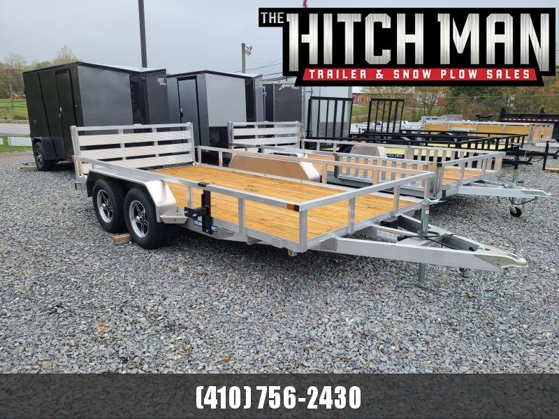 7 x 14 Sure-Trac Aluminum Tube Top Utility Trailer 7K