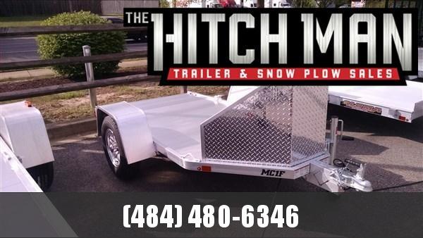 "4'3"" x 8.75 Aluma MC1F 2k Folding Motorcycle Trailer 2k"