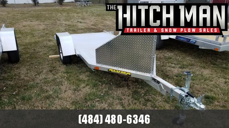 "4'3"" x 10'5"" Aluma MC10 Aluminum Single Motorcycle Trailer 2k"