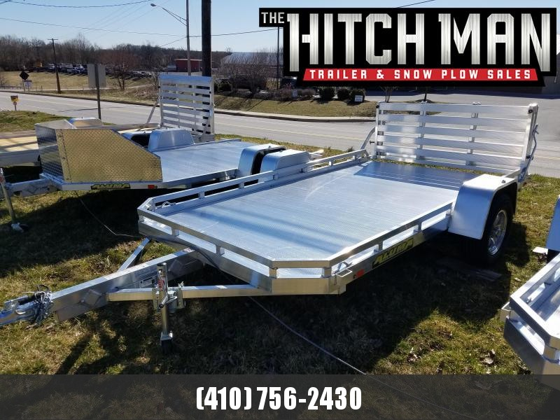 6.5' x 12' ALUMA 7712H Aluminum Utility Trailer 3K  ***w/Bi-Fold Rear Gate