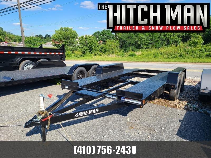 7 x 16 Bri-Mar Open Deck Car Hauler Trailer 7k  **w/Winch Plate & Removable Fenders
