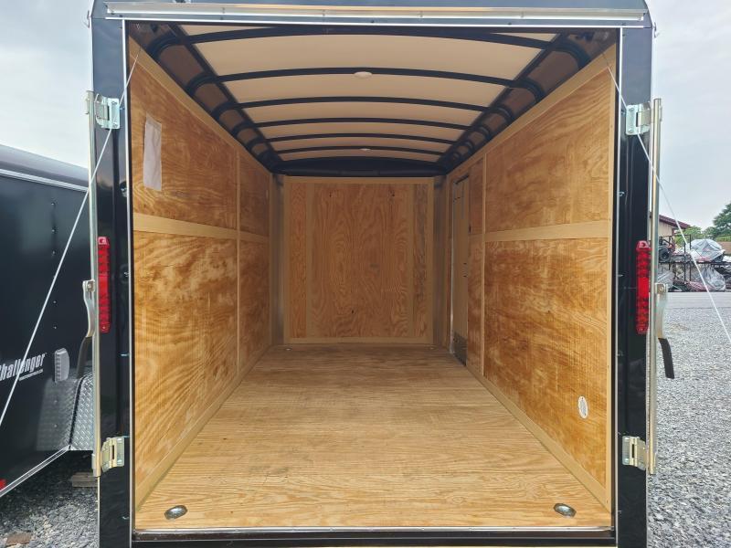 """7 x 14 Homesteader Challenger Cargo Trailer 7k **Black w/6"""" Extra Height"""