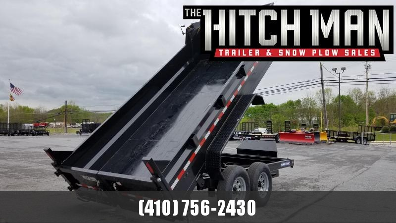 7 x 14 Sure-Trac HD Dump Trailer 14k Scissor Hoist