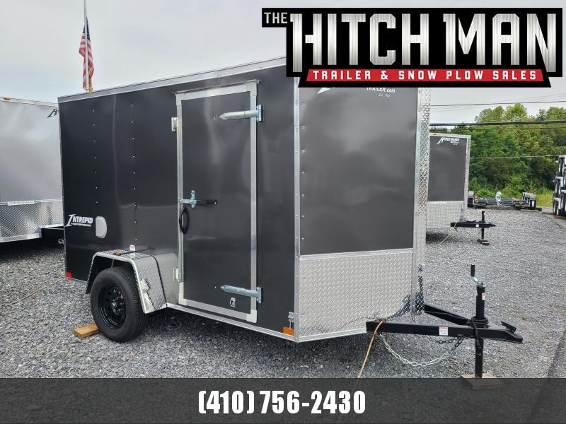 6 x 10 Homesteader Intrepid V-Nose Cargo Trailer, 3k  **Charcoal w/ Ramp Door Package