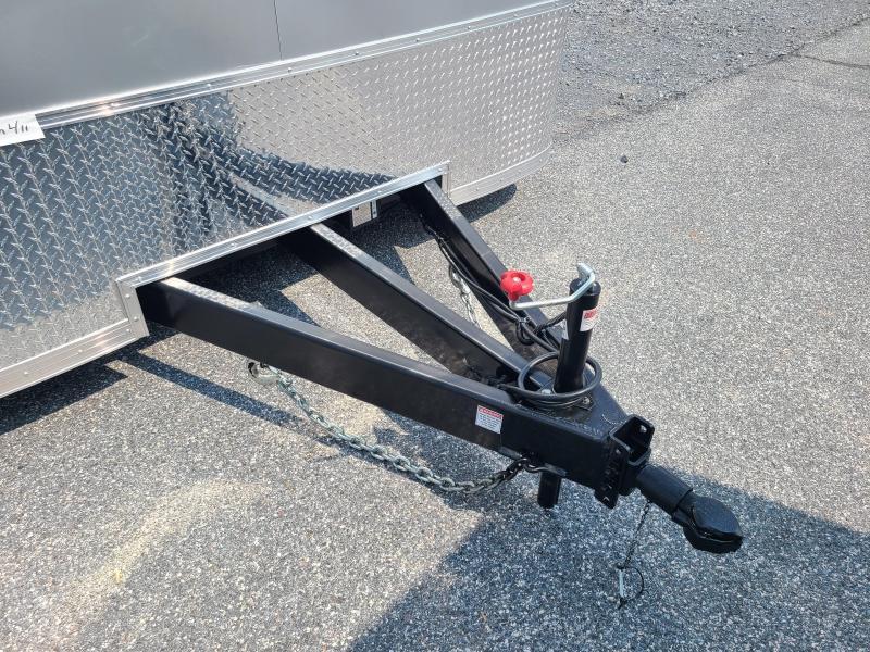 8.5 x 22 Homesteader Champion SGT Car Hauler 10k  **Silver w/Spread Axles