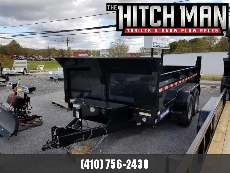 7 x 12 Sure-Trac Scissor Hoist HD Dump Trailer 12k