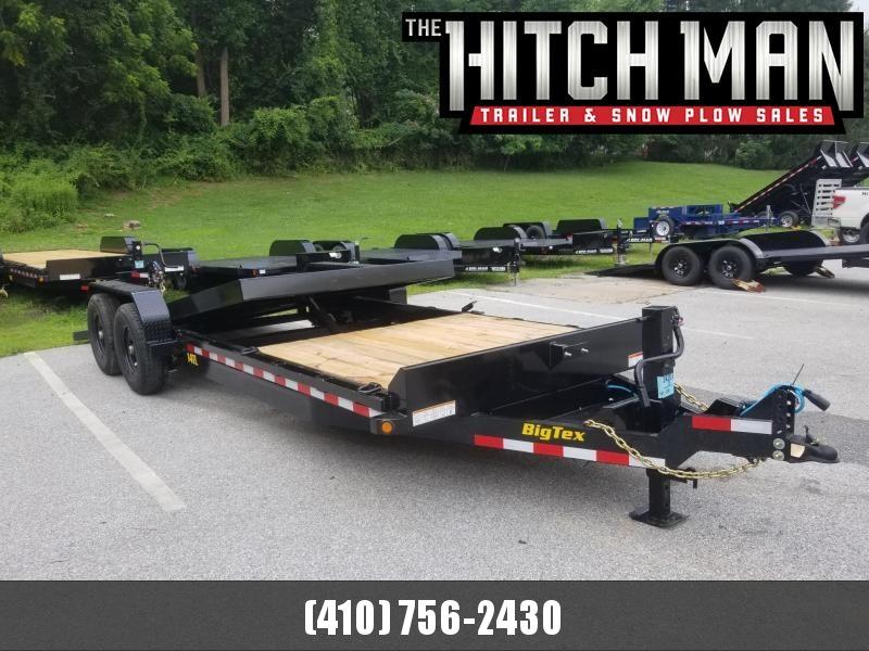 7 x 22 (16+6) Big Tex Tilt Bed Equipment Trailer 14k