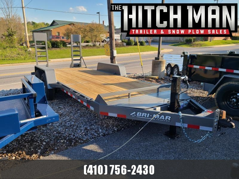 7 x 18 Bri-Mar EH18-14-HD Equipment Trailer 14K  **GRAY