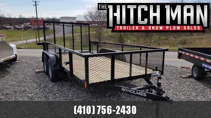 """6 x 14 Holmes Residential 7k Landscape Trailer w/ 24"""" Tall Mesh Sides & 4 Welded D-Rings"""