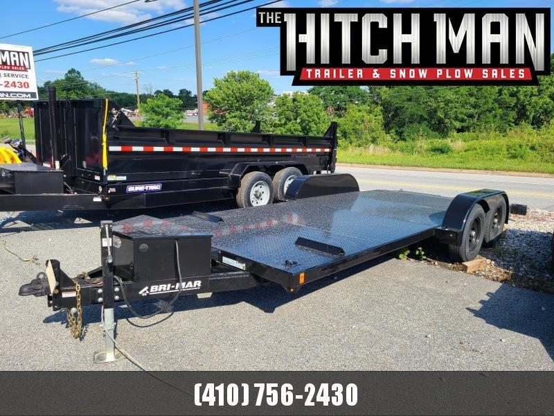 7 X 20 Bri-Mar Hydraulic Tilt Car Hauler 10K **w/Winch Plate