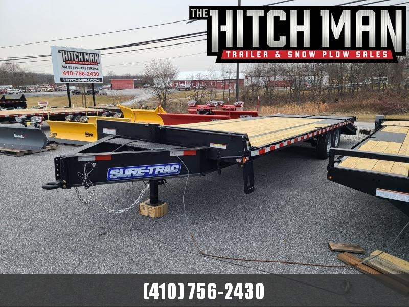 8.5 x 25 (20+5) Sure-Trac LowPro HD Deckover Equipment Trailer 15K