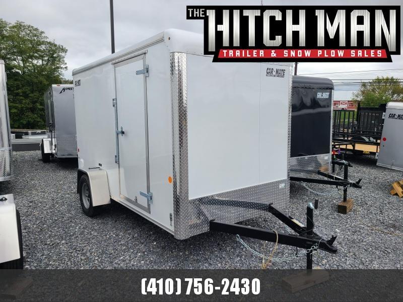 "6 x 12 Car Mate Custom Cargo Trailer 3k **White w/6"" Extra Height"