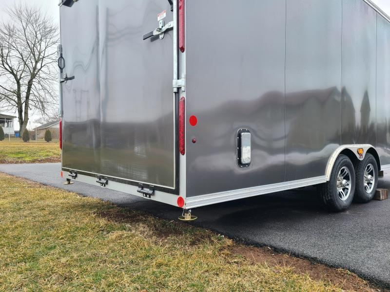 8.5 x 24 Car Mate Eagle Series Enclosed Car Trailer 10K  **Charcoal Gray & Finished Interior