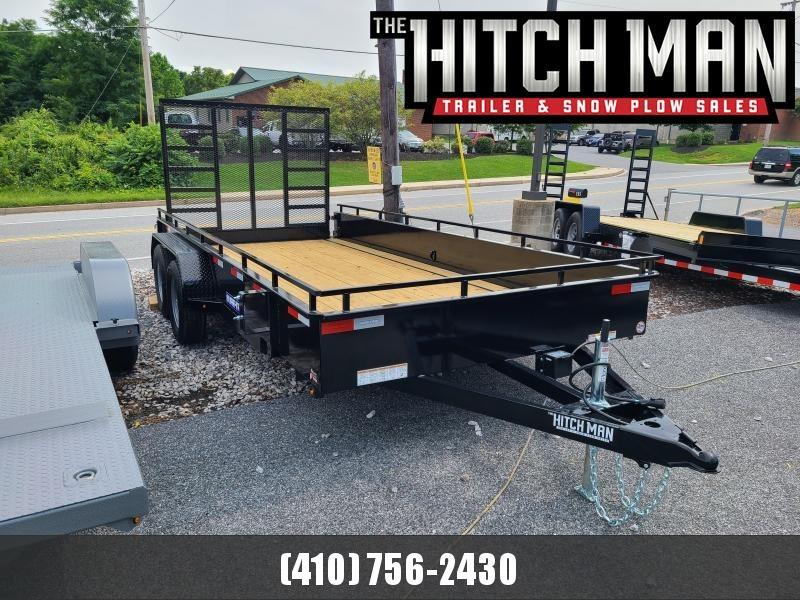 7 x 16 Sure-Trac Steel High Side Utility Landscape Trailer 7K  **w/ 5' Reinforced Tailgate