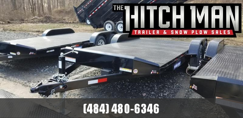 7 x 18 (14+4) Sure-Trac Steel Deck Car Hauler 10k