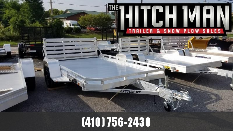 6.5' x 12' ALUMA 7712H Executive Series Aluminum Utility Trailer 3K