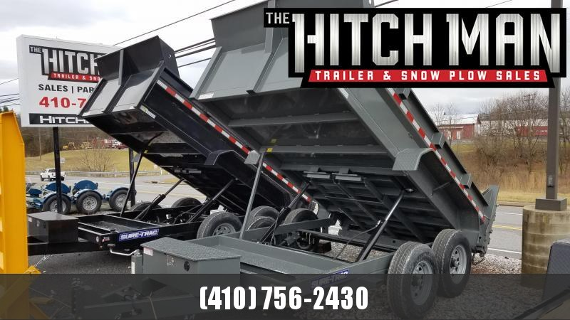 7 x 12 Sure-Trac Dual-Ram HD Dump Trailer 12k