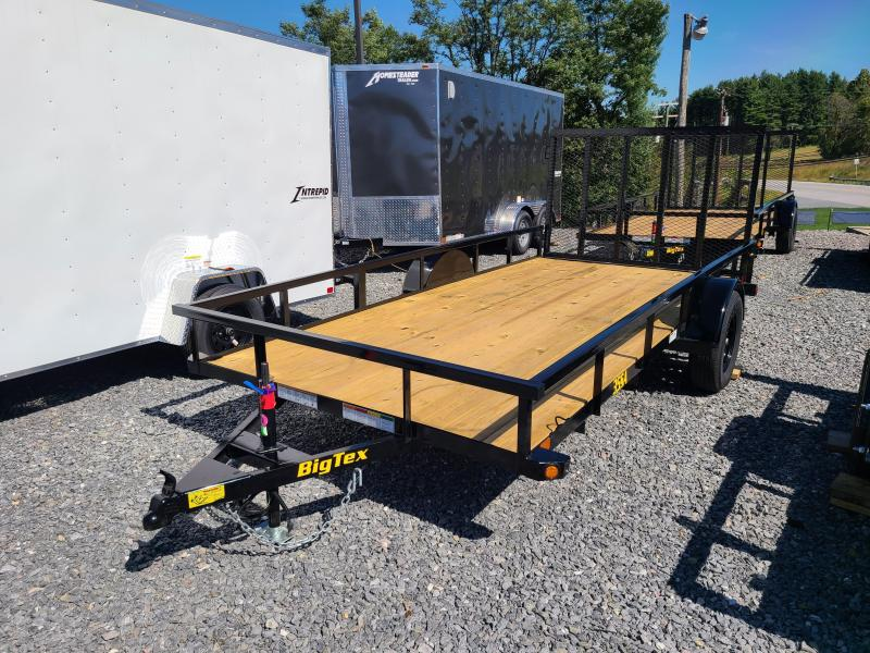 "6'5"" x 14' Big Tex Single Axle Utility Trailer 3k"