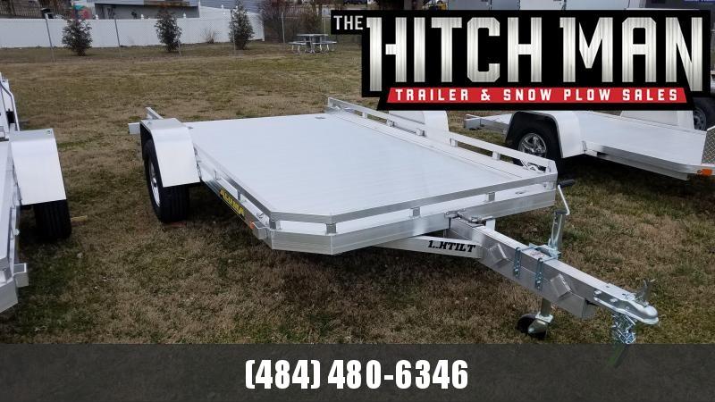 6.5' x 12' ALUMA 7712H TILT BED Aluminum Utility Trailer 3K