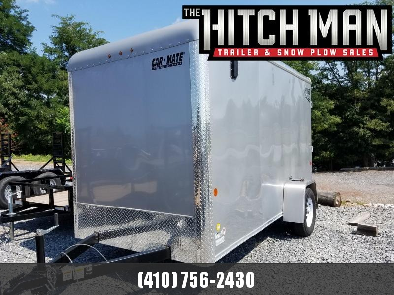 "6 x 12 Car Mate Custom Cargo Trailer 3k **Silver w/6"" Extra Height"