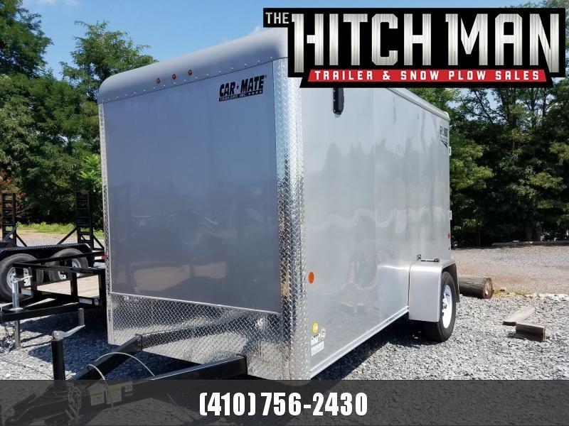 "6 x 12 Car Mate Custom Cargo Trailer 3k **Silver w/6"" Extra Height"