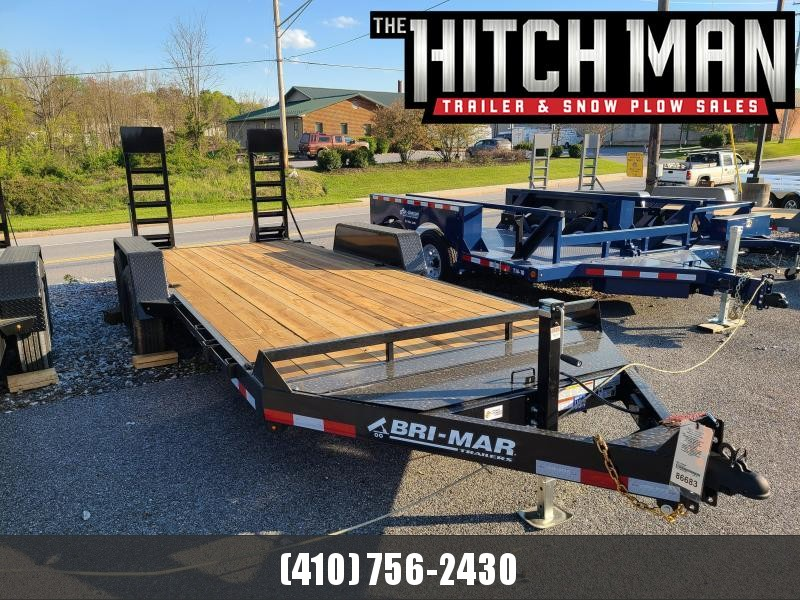 7 x 18 Bri-Mar EH18-14-HD Equipment Trailer 14K
