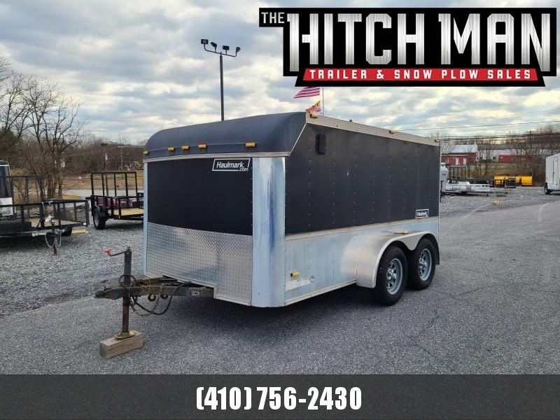 Used 2005 7 x 12 Haulmark Enclosed Motorcycle Cargo Trailer 7K