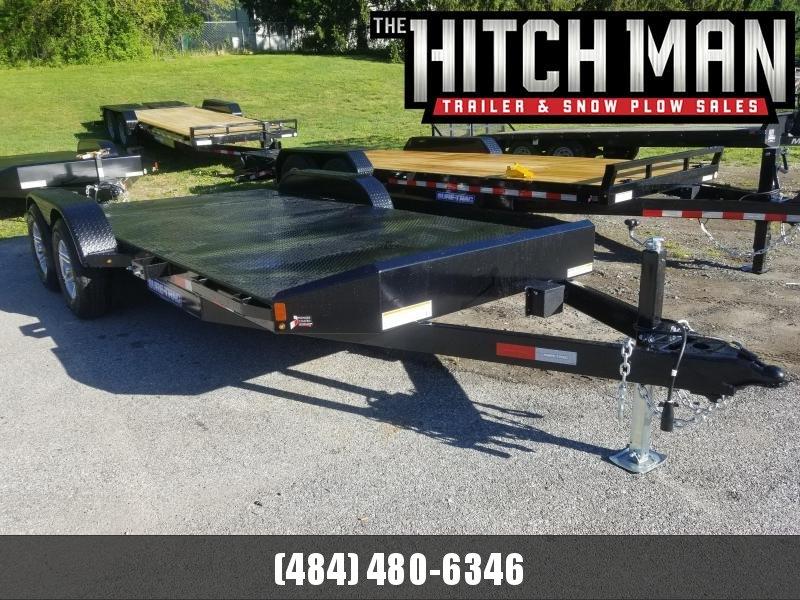 7 x 20 (16+4) Sure-Trac Steel Deck Car Hauler 10k
