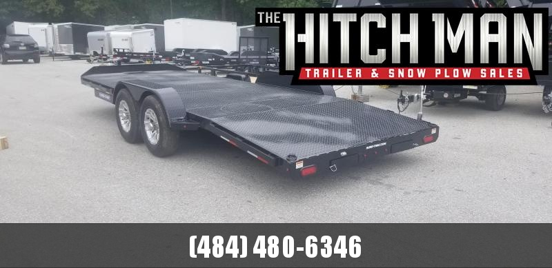 Sure-Trac 7 x 20 (16+4) Steel Deck Car Hauler 10k