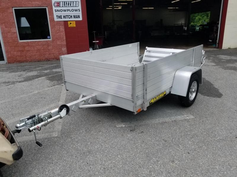 "5' 3"" x 8' ALUMA 638 Aluminum Utility Trailer 24"" Sides 2k"