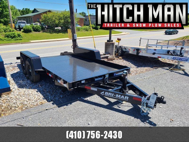 7 x 16 Bri-Mar T16-14 Tilt Bed Equipment Trailer 14K