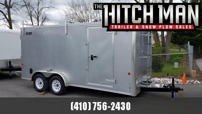 7 x 14 Car-Mate Contractor Cargo 7k  **Charcoal w/ Contractor Pkg #2