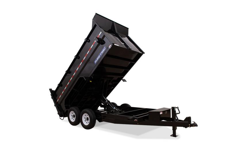 82in x 14 Sure-Trac LProfile Telescopic 4ft High Side Dump 14k