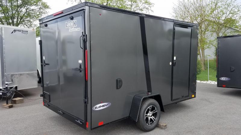 7 x 12 Look Element SE BLACKOUT V-Nose Cargo 3.5K w/Brakes