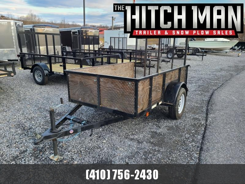 "Used 2013 5 x 8 Carry-On 24"" Mesh Side Utility Trailer 3K"